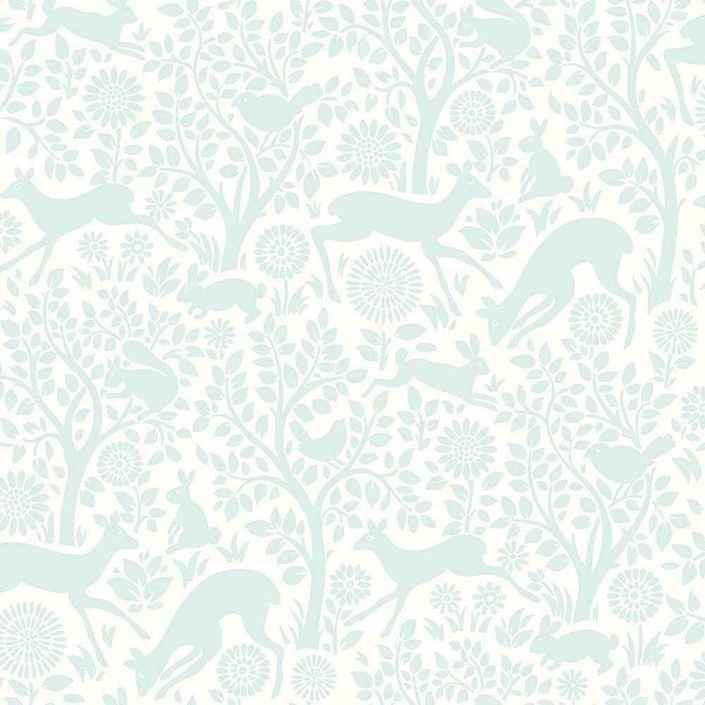 Chesapeake Anahi Aqua Forest Fauna Wallpaper HAS01234