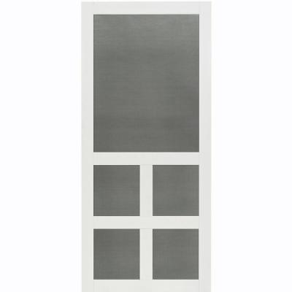 30 in. x 80 in. Victoria White Vinyl Screen Door