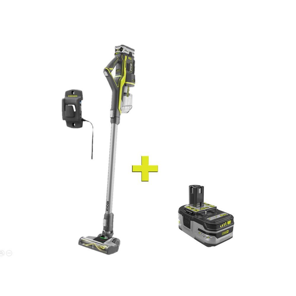 18-Volt ONE+ Stick Vacuum Cleaner with Bonus 18-Volt ONE+ Lithium-Ion 4.0 Ah LITHIUM+ HP High Capacity Battery