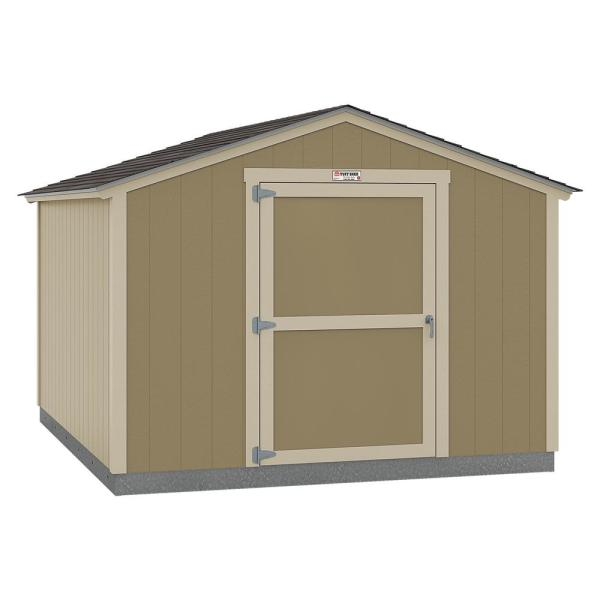 Installed The Tahoe Series Standard Ranch 10 ft. x 12 ft. x 8 ft. 2 in. Un-Painted Wood Storage Building Shed