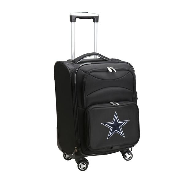 Denco NFL Dallas Cowboys 21 in. Black Carry-On Spinner Softside Suitcase