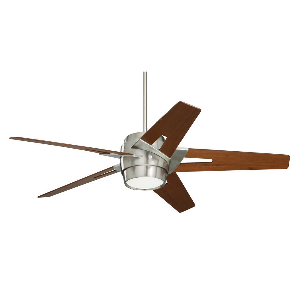 Luxe Eco 54 in. Brushed Steel Ceiling Fan
