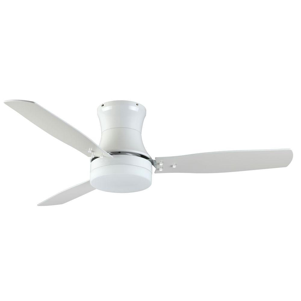 TroposAir Modernaire 52 in. Pure White Ceiling Fan and Light