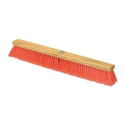24 in. Juno Flagged Polypropylene Medium Sweep with Orange Bristles (12-Case)