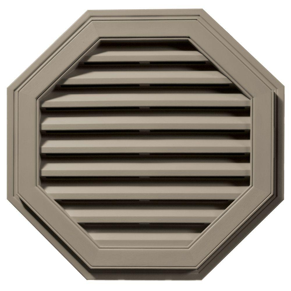 27 in. Octagon Gable Vent in Clay