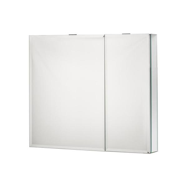 30 in. x 26 in. Recessed or Surface Mount Medicine Cabinet in Polished Finished