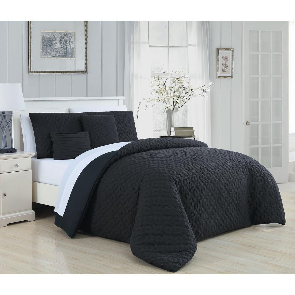 Minnie 9-Piece Black and White King Comforter Set
