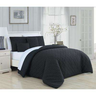 Minnie 9-Piece Black and White King Comforter Set