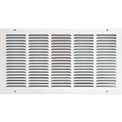 20 in. x 10 in. Return Air Vent Grille, White with Fixed Blades