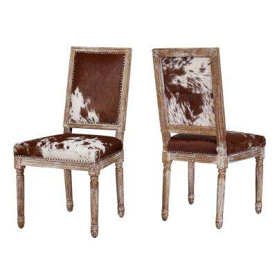 Cowgirl Hide Leather Chair (Set of 2)