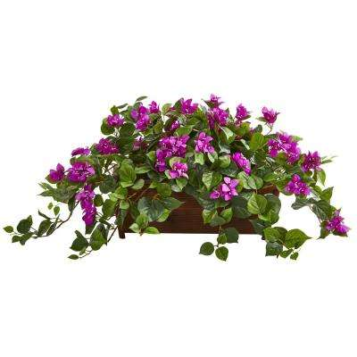 Indoor Bougainvillea Artificial Plant in Decorative Planter