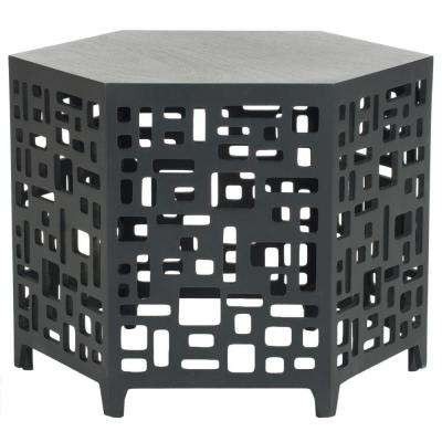 Kelby Charcoal Grey End Table