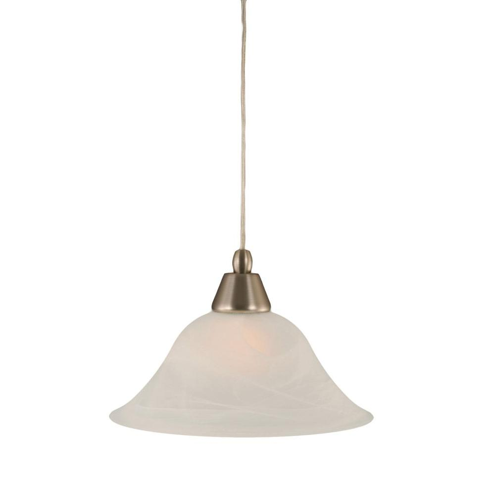 Filament Design Concord 1-Light Brushed Nickel Pendant