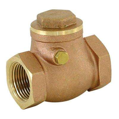 3/4 in. IPS Brass Swing Check Valve