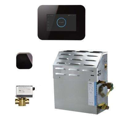 12kW Steam Bath Generator with iSteam3 AutoFlush Package in Black