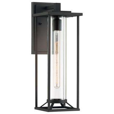 Trescott 1-Light Outdoor Black Wall Mount Lantern