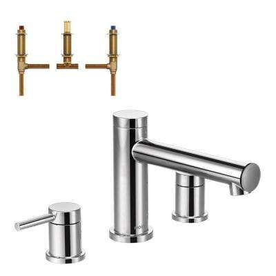 moen oxby roman tub faucet. Align 2 Handle Deck Mount Roman Tub Faucet Trim Kit with Valve in Chrome MOEN  Faucets Bathtub The Home Depot