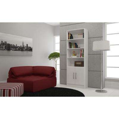Catarina White Storage Open Bookcase