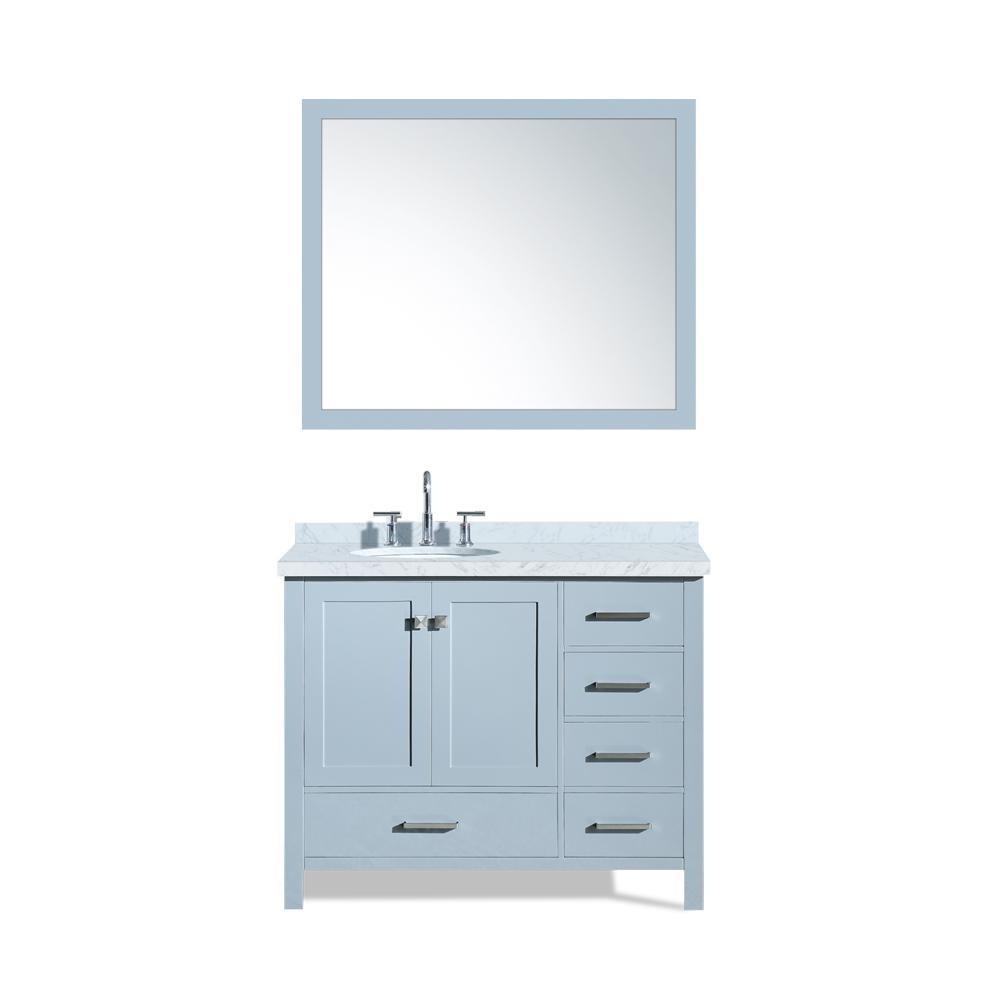 Ariel Cambridge 43 In Bath Vanity In Grey With Marble