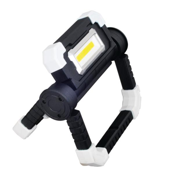 600 Lumens Battery Operated 2-Panel Work Light with High, Low and Flashing Modes