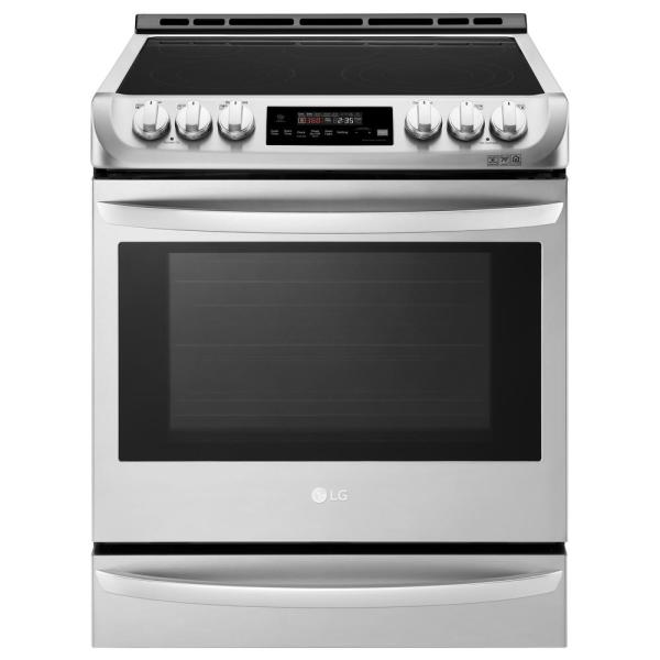 30 in. 6.3 cu. ft. Smart Slide-in Electric Range with ProBake Convection Oven, Self Clean and Wi-Fi in Stainless Steel