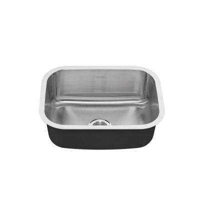Portsmouth Undermount Stainless Steel 23 in. 0-Hole Single Bowl Kitchen Sink Kit