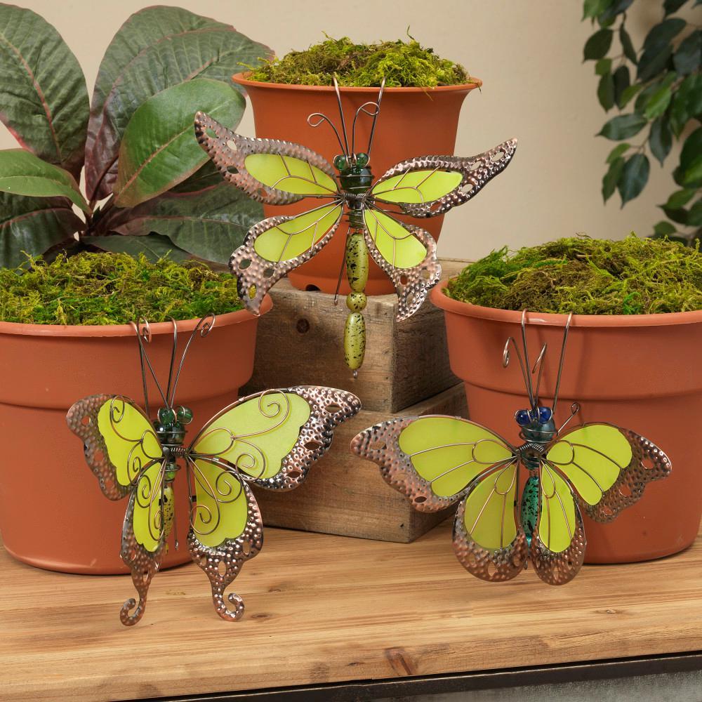 Glow-In-The-Dark Butterfly Pot Clingers (Set of 3)