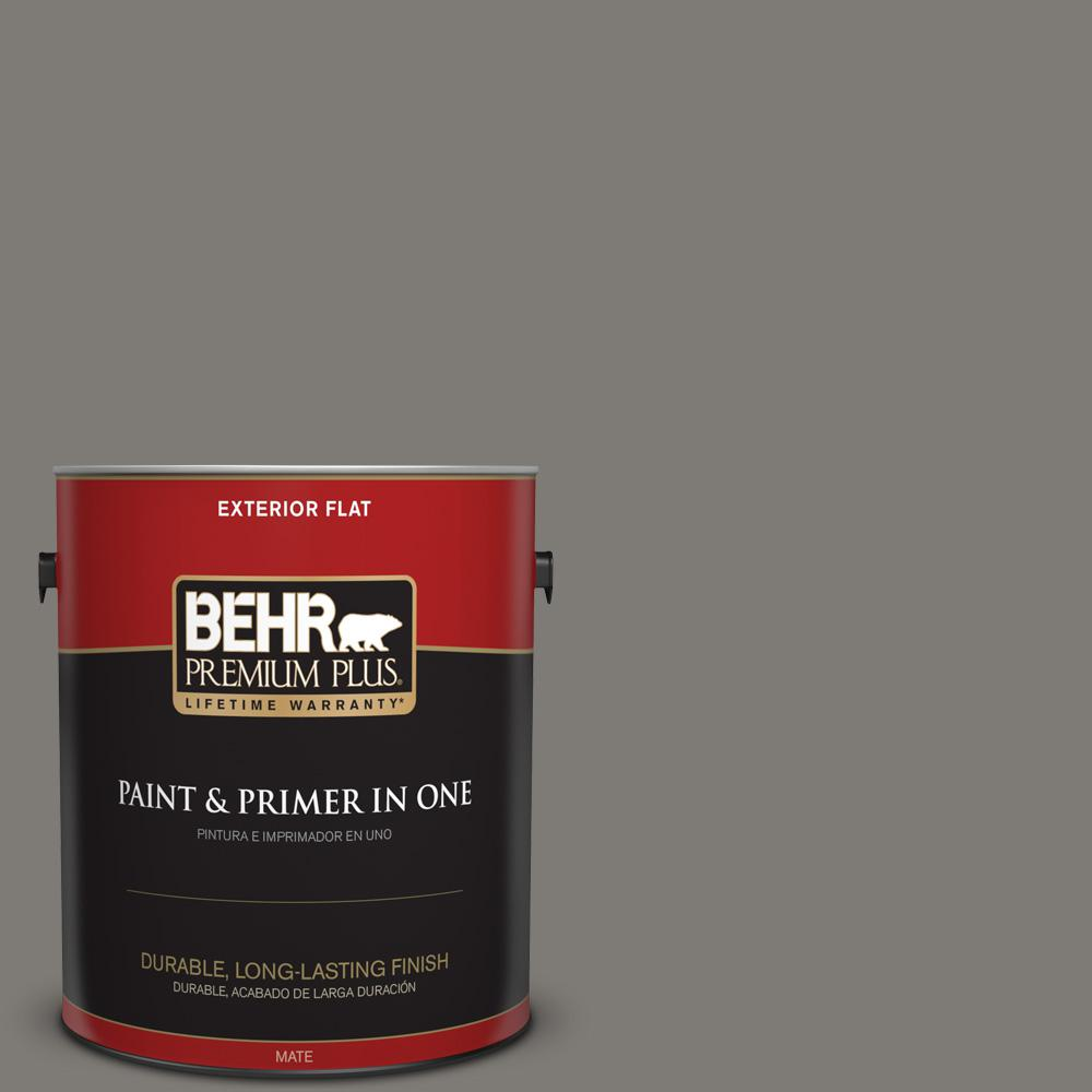 1 gal. #PPU24-21 Greyhound Flat Exterior Paint