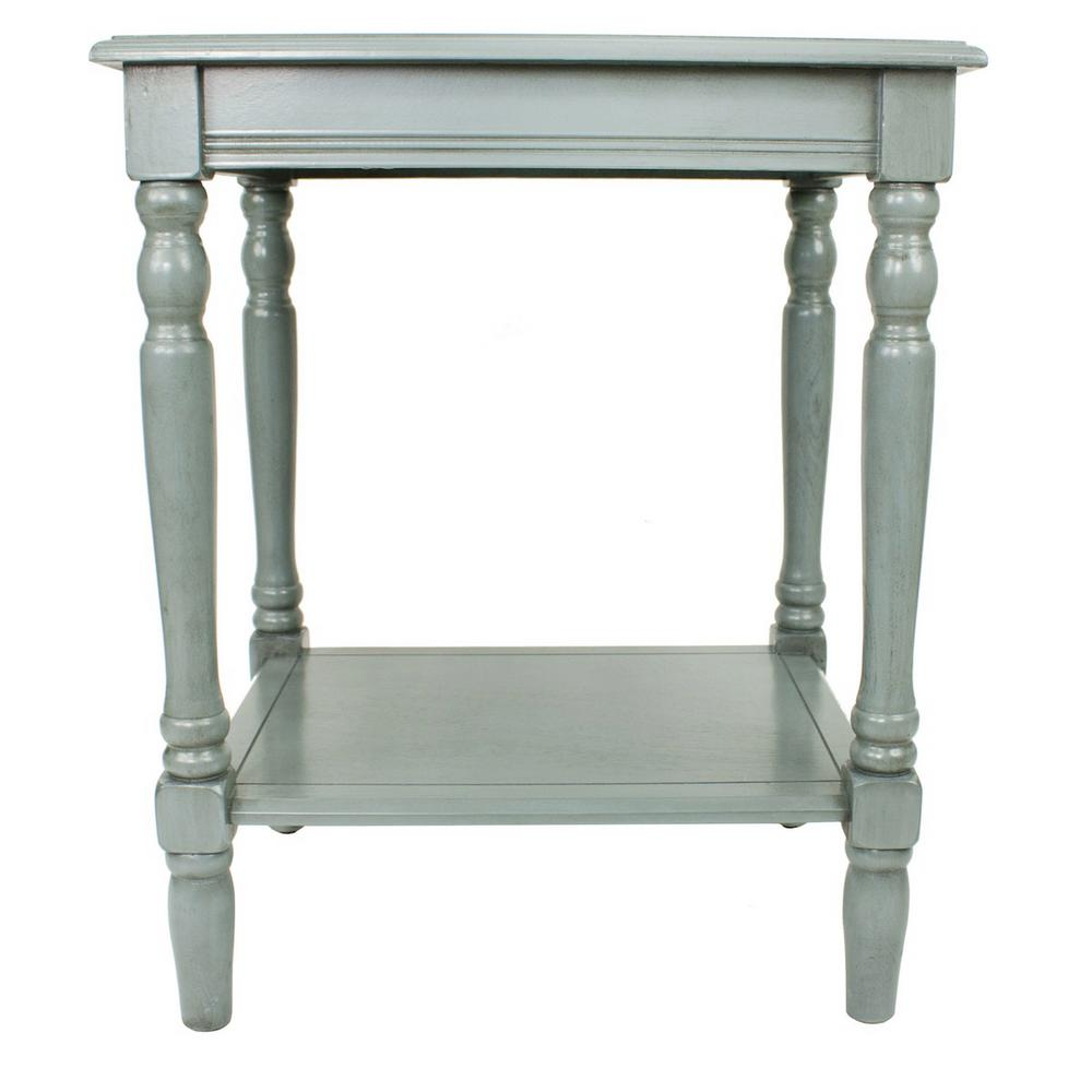 Simplify antique artic blue end table antique arctic blue sahara oak