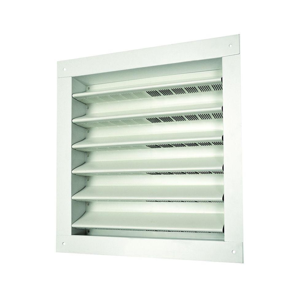 Master Flow 12 in. x 12 in. Aluminum Wall Louver Static Vent in White