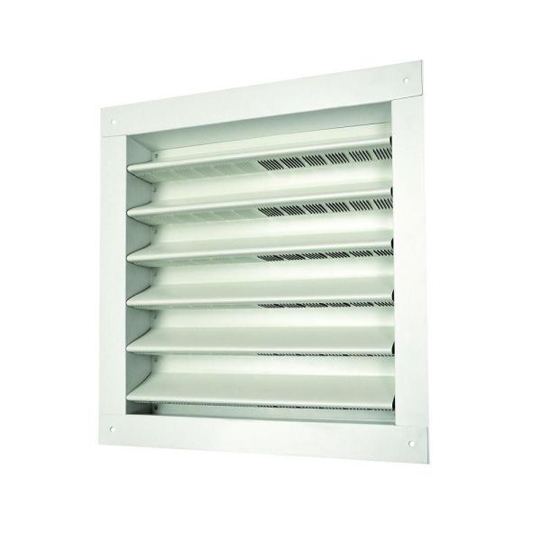 Master Flow 12 In X 12 In Aluminum Wall Louver Static Vent In White Da1212w The Home Depot