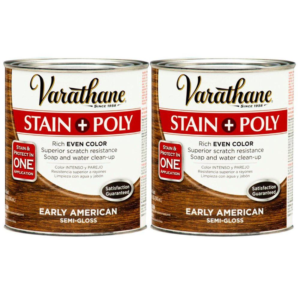 Varathane 1 Qt. Early American Wood Stain and Polyurethane (2-Pack)-DISCONTINUED