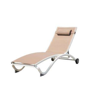 Glendale Machchiato Adjustable Aluminum Outdoor Chaise Lounge