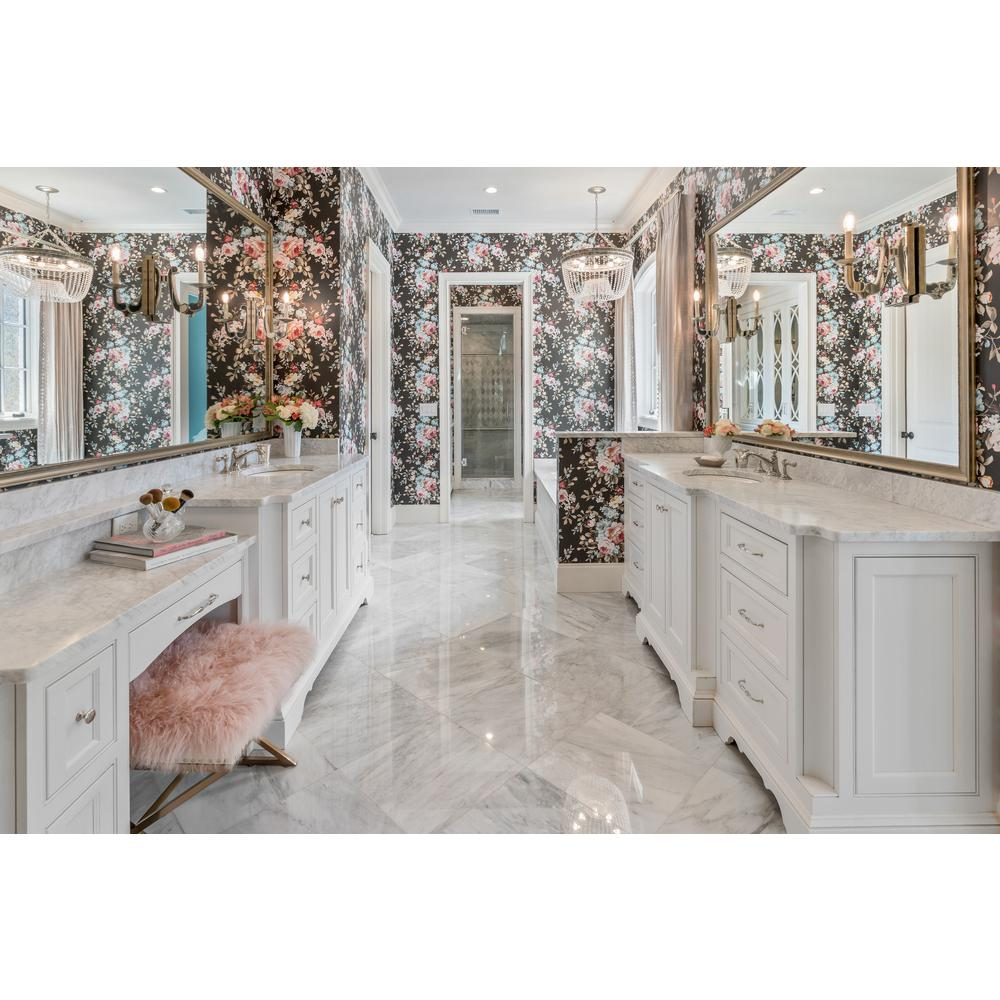 Msi Carrara White 18 In X 18 In Polished Marble Floor And Wall