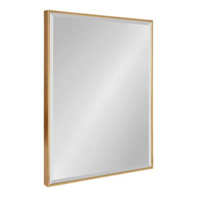 Medium Rectangle Gold Beveled Glass Contemporary Mirror (28.75 in. H x 22.75 in. W)