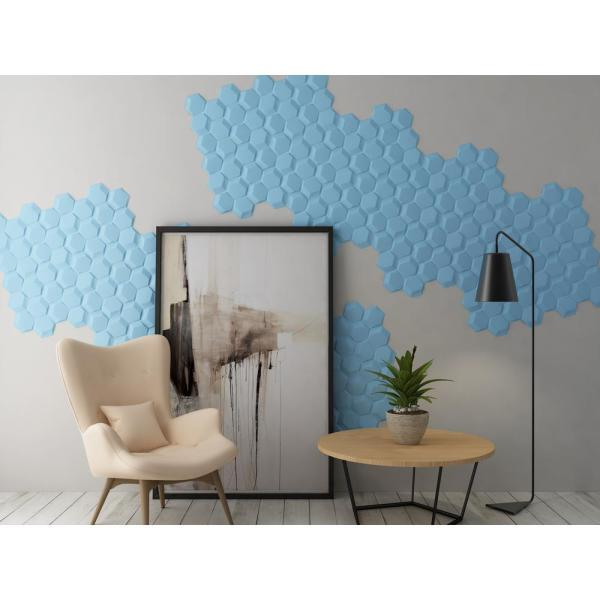 Contempo Living Inc 19.6 in. x 21.2 in. x 1 in. Off-White Plant Fiber Hexagon Design Glue-On Wainscot 3D Wall Panel (18-Pack)