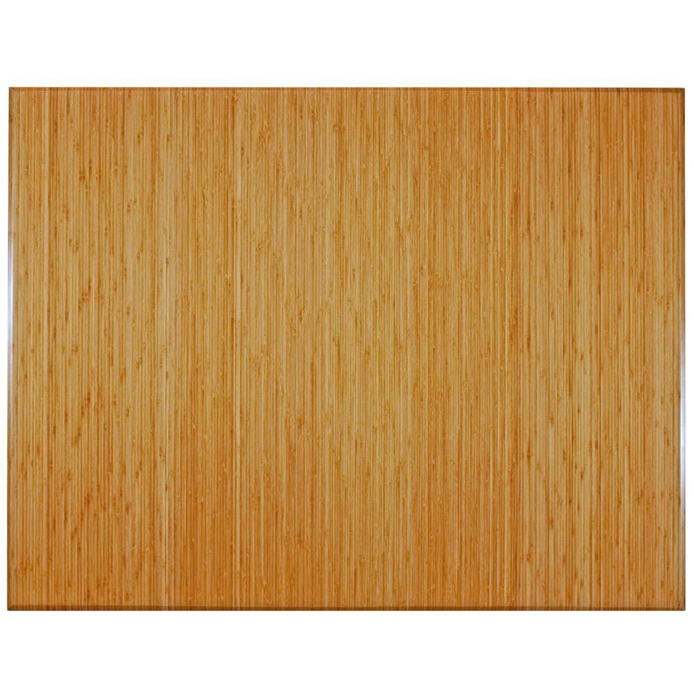 Plush Natural Light Brown 47 in. x 60 in. Bamboo Tri-Fold