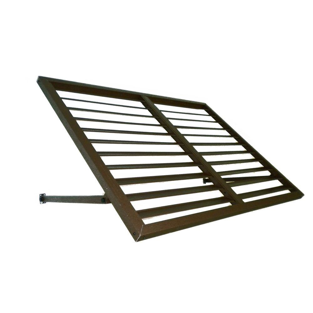 Beauty-Mark 3 ft. Bahama Metal Shutter Awning (24 in. H x 24 in. D) in Bronze