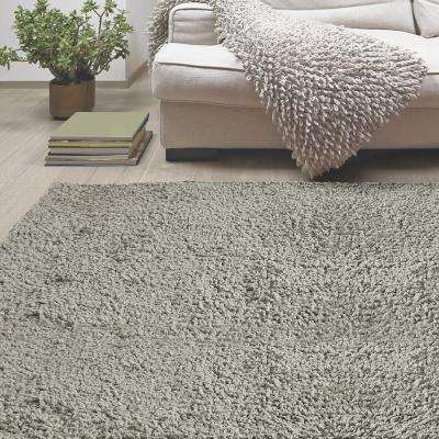 Palazzo Shag Silver 9 ft. x 12 ft. Area Rug