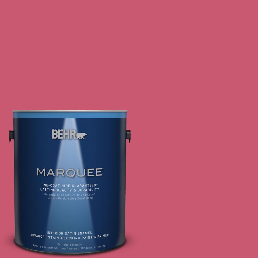 1 gal. #T11-15 Pinkelicious Satin Enamel Interior Paint