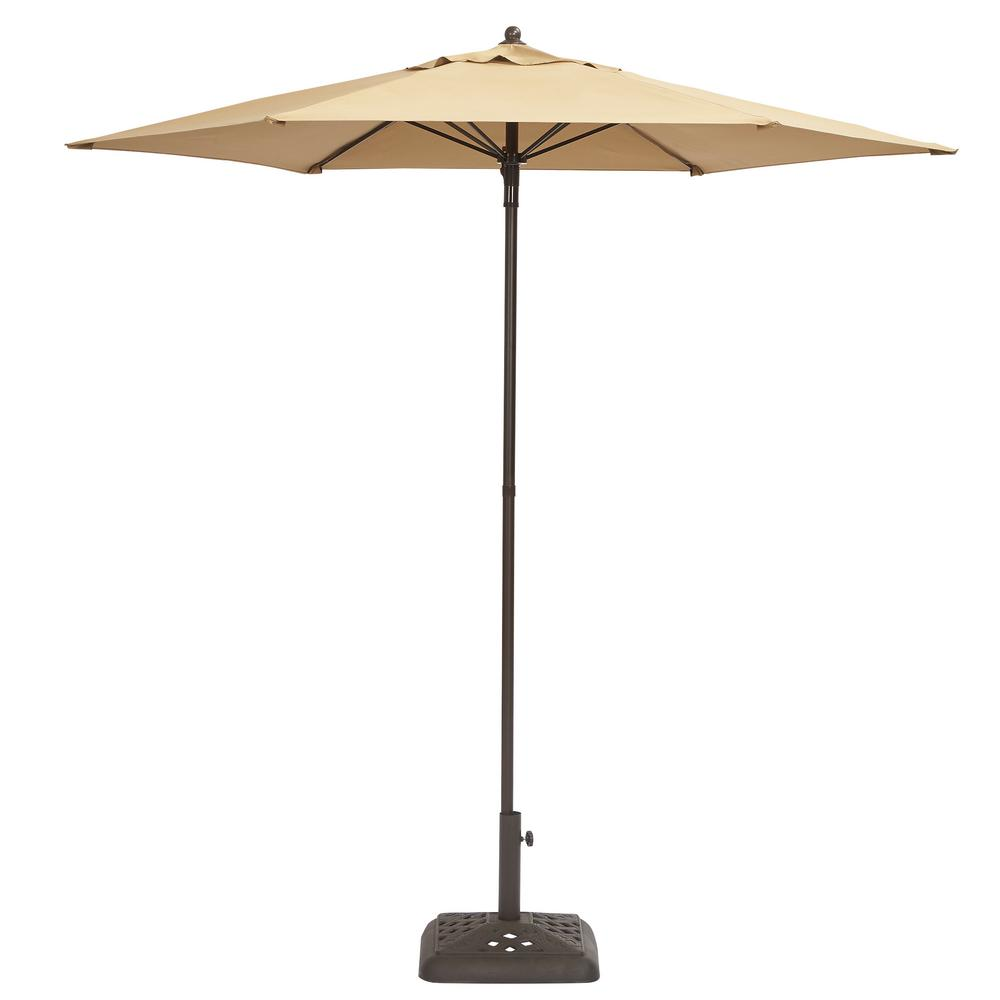 Bon Hampton Bay 7 1/2 Ft. Steel Push Up Patio Umbrella In