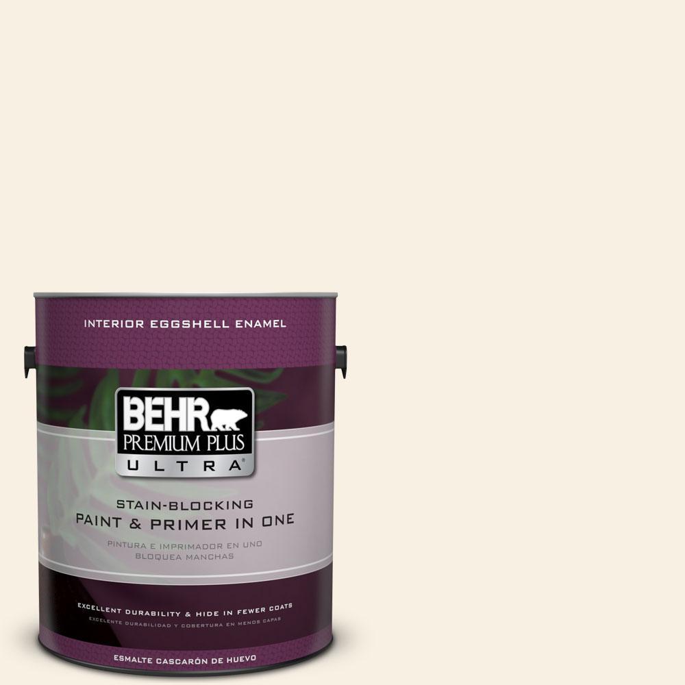 BEHR Premium Plus Ultra 1-gal. #GR-W14 Coconut Twist Eggshell Enamel Interior Paint