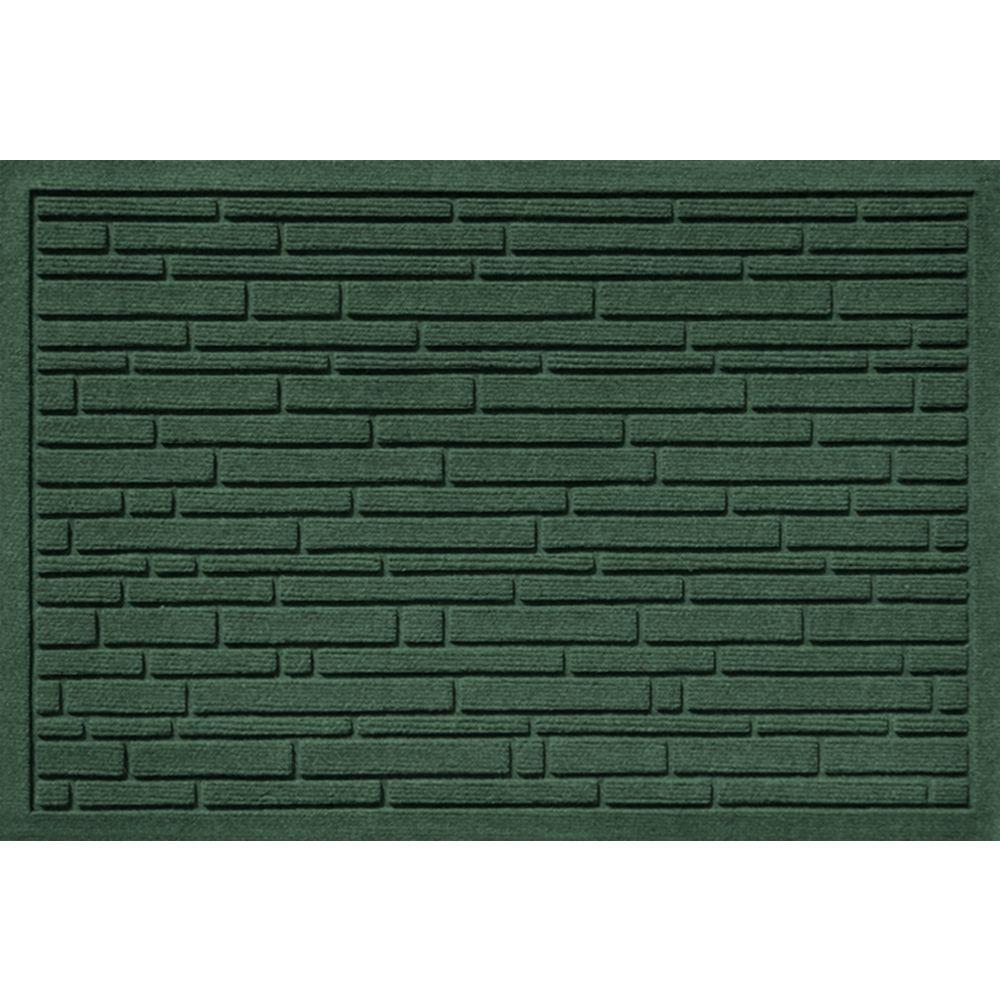 Aqua Shield Broken Brick Evergreen 17.5 in. x 26 in. Door Mat