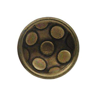 1-1/4 in. Antique Brass Circular Inlay Cabinet Hardware Knob