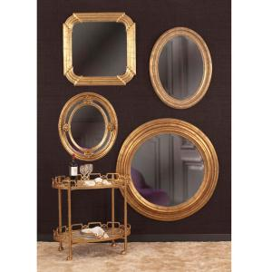Nero Country Gold Oval Mirror by