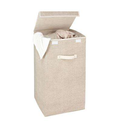 Single Laundry Hamper in Faux Jute