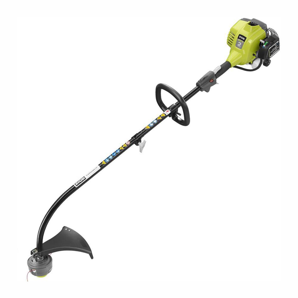 RYOBI 25cc 2-Cycle Attachment Capable Full Crank Curved Shaft Gas String Trimmer