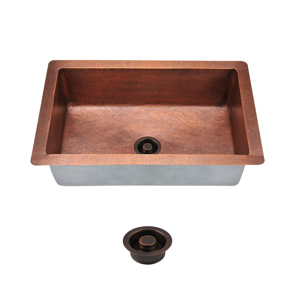 Mr Direct All In One Undermount Copper 33 In Single Bowl