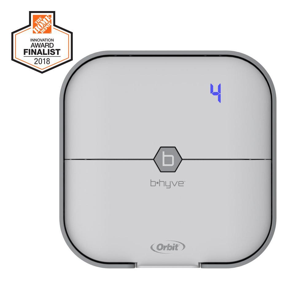 Orbit 4 Zone B Hyve Smart Wi Fi Indoor Timer 57915 The Home Depot Sprinkler Wire Diagram