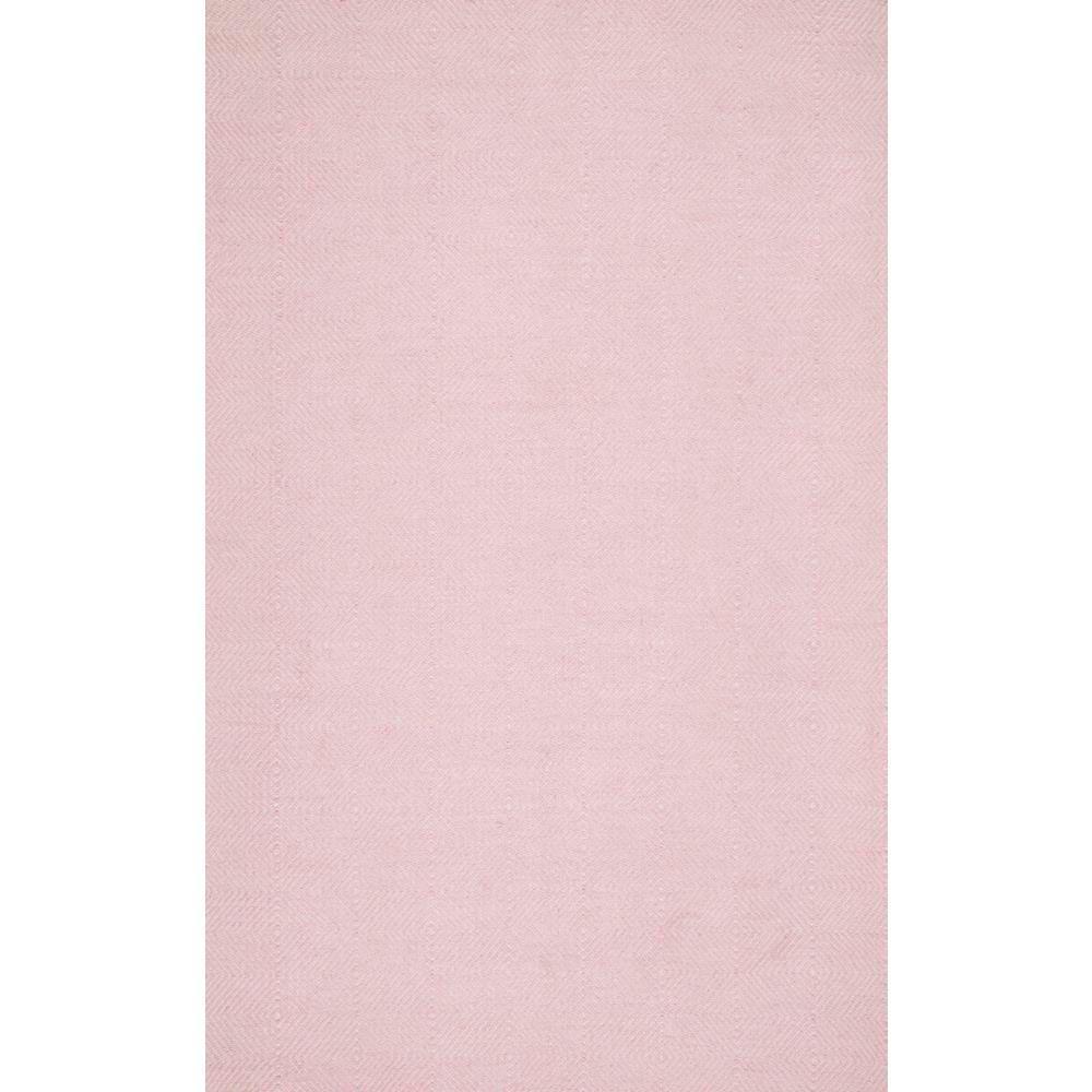 Agoja Contemporary Diamonds Light Pink 8 ft. x 10 ft. Area Rug